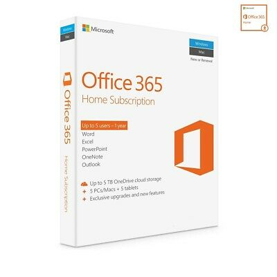 AU115 • Buy Microsoft Office 365 Home Subscription 1 Year ESD Version 5 Devices Email Key