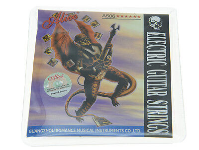 $ CDN2.80 • Buy Alice Set Plated Steel Electric Guitar Strings  Light Tension 1st-6th .010-.046