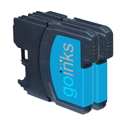 £4.30 • Buy 2 Cyan Ink Cartridges Compatible With Brother DCP-165C MFC-250C DCP-6690CW