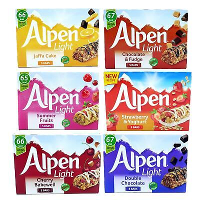 £15.99 • Buy Alpen Light Jaffa Cake Fruit Cereal Bar Chocolate Snack 10 Boxes Of 5  (50 Bars)