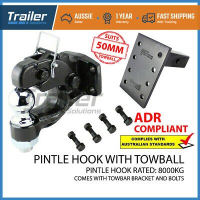 AU139.10 • Buy Pintle Hook Combo 8 Tonne & Pintle Receiver Arm Hitch - Tow Bar Trailer Towing