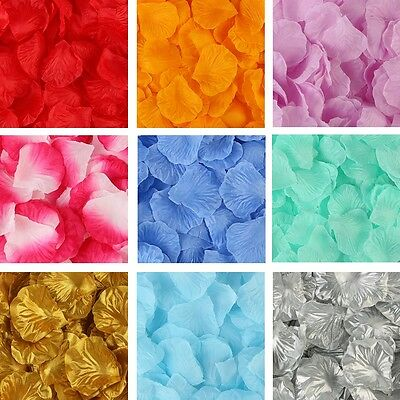 Silk Rose Flower Petals Engagement Wedding Decoration Confetti Table Party • 1.29£