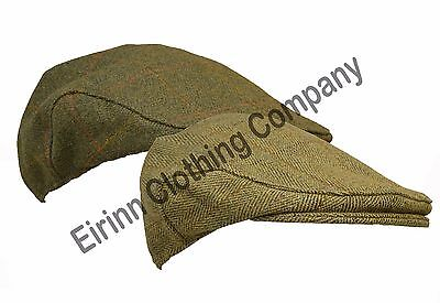 Kids Childrens Derby Tweed Flat Cap Teflon Coated Shooting Hunting Country Hat • 11.95£