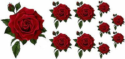 Painted  Rose Flower Decals Stickers Graphics Nursery Wall Window Decoration Art • 2.99£