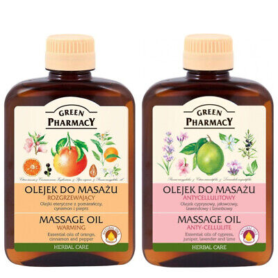 Anti Cellulite Warming Neutral Almond Massage Oil 200ml Green Pharmacy Vegan • 6.99£