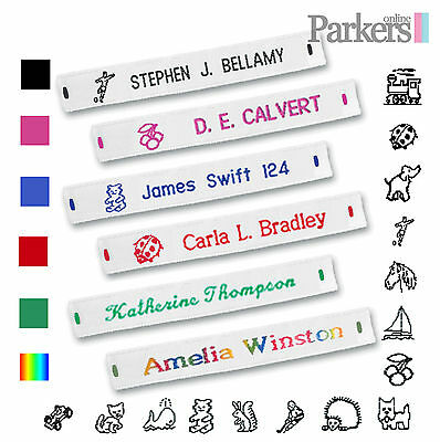 £4.99 • Buy Brand New Woven Sew In Name Tapes Name Labels 36 72 144 School Care Home Army