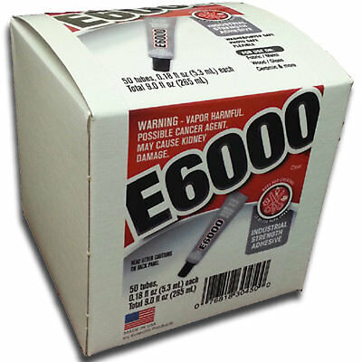 E-6000 Jewellery & Craft Glue Adhesive 5.32ml Tube Number Variations USA MADE • 13.03£