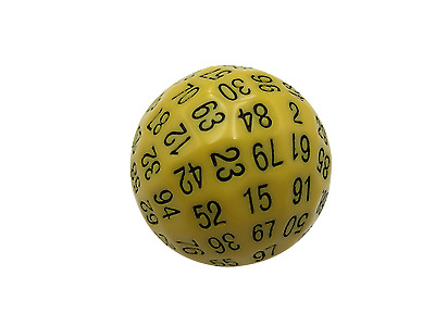 AU21.96 • Buy SkullSplitter Single 100 Sided Polyhedral Dice (D100)| Solid Yellow Color (45mm)