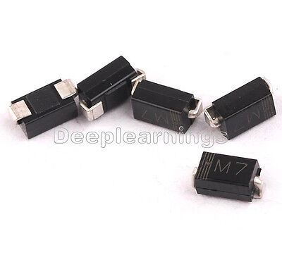 $ CDN1.32 • Buy 100PCS LL4007 M7 1N4007 DO-214 SMD 1A 1000V Rectifier Diodes