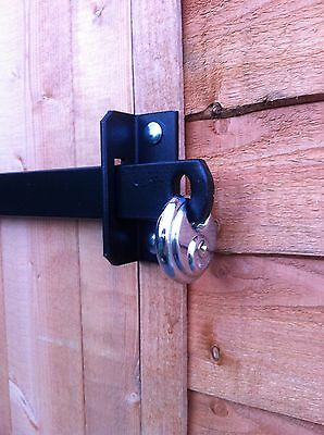 Metal Shed Lock Bar, Stable / Garage / Office Door Security - Heavy Duty Steel • 75£