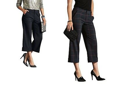 £8.99 • Buy Women's Culottes Trousers Tailored  Cropped Leg 10 S 12 M 14 L16 XL 18 XXL