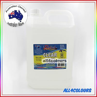 AU33.50 • Buy 5L OZ Made NON TOXIC CLEAR GUM Water Based Adhesive For SLIME Non Staining