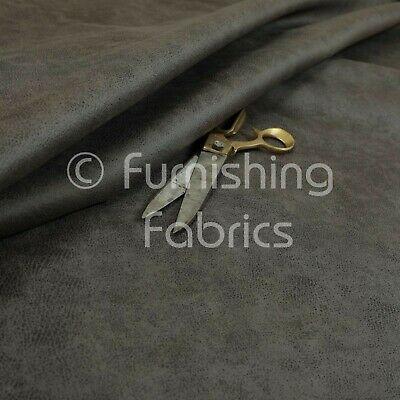 Soft Durable 3 Layer Thick Faux Suede Grey Colour Upholstery Furnishing Fabric • 19.99£