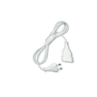 3m Or 5m Single Way EU European Mains Power Socket Extension Lead White 3 Or 5 M • 7.99£