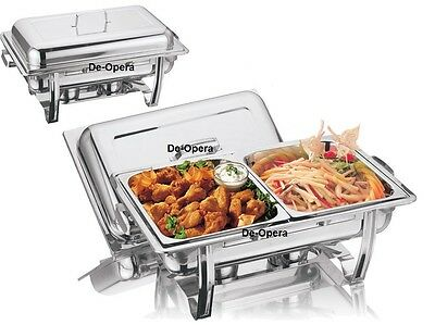 £32.95 • Buy Stainless Steel Chafing Dish Set Food Warmer Buffet Food Pans Fuel 8.5l Party