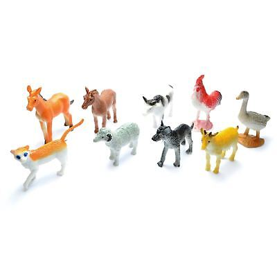 £2.87 • Buy 12 Mini Farm Animal Figures Goodie Loot Pinata Party Bag Fillers Favour Gift