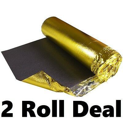 Sonic Gold 5mm Thick - Wood & Laminate Flooring Underlay - 2 Rolls • 36.50£