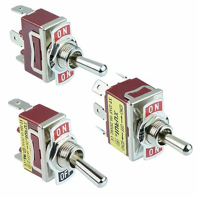 Single Or Double Pole Toggle Flick Switch 15A 250VAC - SPST SPDT DPST DPDT • 1.99£