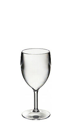 $44.35 • Buy Set Of Roltex Unbreakable Reusable Polycarbonate Plastic SMALL Wine Glasses