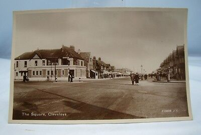 £9.99 • Buy THE SQUARE CLEVELEYS Pre WW2 REAL PHOTO POSTCARD 1930s FLEETWOOD BLACKPOOL FYLDE