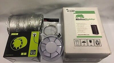 £72.50 • Buy 6  Inch Fan & Filter Extraction Kit Rhino Hobby Carbon Filter Hydroponics