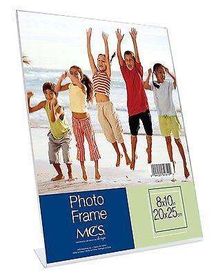 AU5.68 • Buy Bent Acrylic Picture Frame 8x10 Vertical (Same Shipping Any Qty)