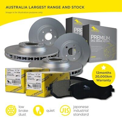 AU158 • Buy FULL SET Front Rear Brake Pads And Disc Rotors For Ford Falcon BA BF FG 2002-16