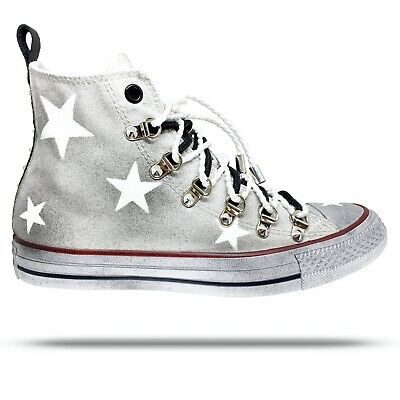 converse all star borchie bianche