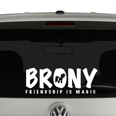 My Little Pony Brony Friendship Is Magic Vinyl Decal Sticker Car Window • 8.65£