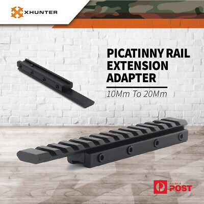 AU17.95 • Buy Xhunter Weaver Picatinny Rail Adapter 10Mm To 20Mm  Extension Riser Rifle Scope