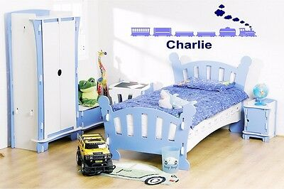 Personalised Childrens Train Set - Wall Art Sticker • 13.99£