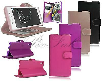 AU9.84 • Buy For Sony Xperia XA1 Ultra G3221 New Genuine Leather Wallet Phone Case + T Glass