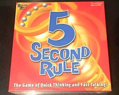 AU36.95 • Buy New University Games 5 Second Rule Board Game Of Quick Thinking And Fast Talking