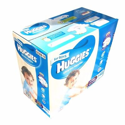 AU79.99 • Buy Huggies Ultra Dry 148 Toddler Boy Disposable Nappies  -  10-15 Kg Jumbo Pack