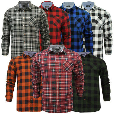 View Details Mens Or Kids Brushed Flannel Cotton Lumberjack Check Casual Shirt By Brave Soul • 7.99£