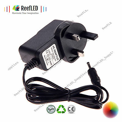 Replacement UK 9V 0.500mA, 1A ,AC/DC POWER SUPPLY ADAPTER PLUG 3.5MM X 1.35mm • 7.02£
