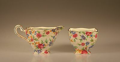 $ CDN62.48 • Buy Royal Winton Old Cottage Chintz Ascot Creamer And Open Sugar Set, England