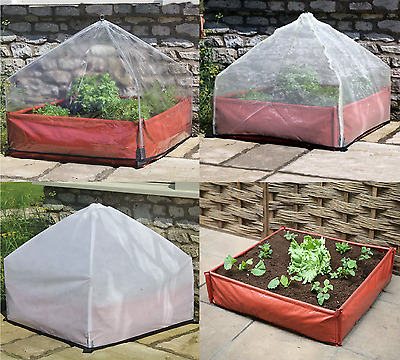 Large Plastic Garden Raised Bed Grow Bag Planter Plant Pot Cover Cloche Fleece • 29.99£