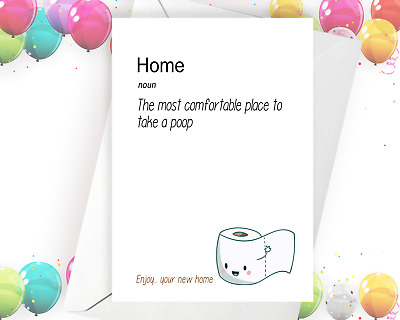 Greeting Card / New Home / Funny Cards / Cheeky Pooch / Moving House • 3.59£