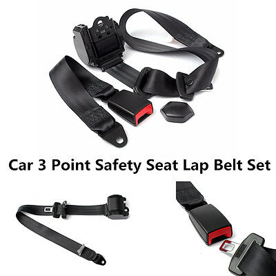 $42.91 • Buy Automatic Retractable 3 Point Car Auto Truck Adjustable Safety Seat Lap Belt Kit