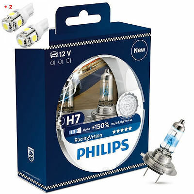 AU59.91 • Buy Philips Racing Vision H7 150%+ Twin 2 Free LED T10/W5W