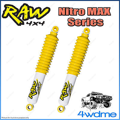 AU255 • Buy For Toyota Hilux N80 REVO 4WD RAW Rear Nitro MAX Shock Absorbers 2  0-50mm Lift