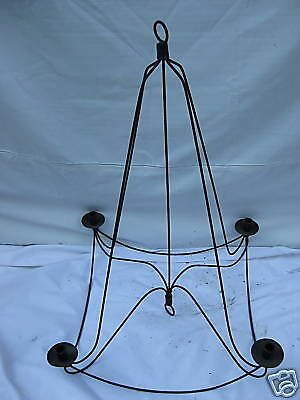 Candle Holder Hanging Wrought Iron 4flamig Höhe92cm • 62.72£