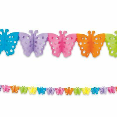 4m Garland Bunting With Butterfly Shape Multi Coloured Birthday Party • 3.49£