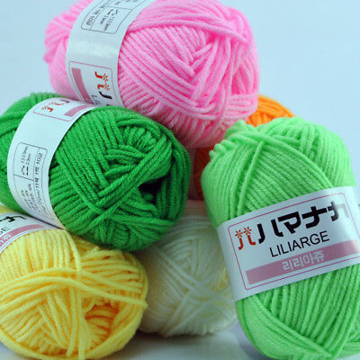 AU1 • Buy New 42 Colors Knitting Wool Crochet Soft Bamboo Cotton Yarn Lot Of Natural Skein