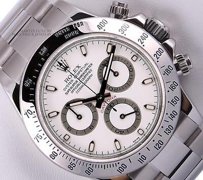 $ CDN27859.50 • Buy Rolex Daytona Cosmograph 116520 Stainless Steel 40mm Watch-White Dial-Box & 2WTY