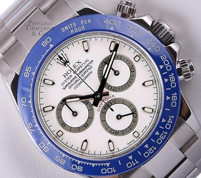 $ CDN27462.56 • Buy Rolex Daytona Cosmograph 116520 Stainles/Steel 40mm Watch-White Dial-Blue Insert