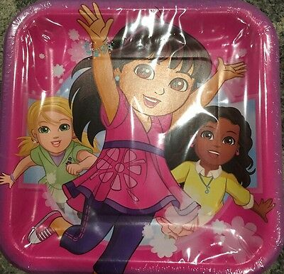 Amscan Dora And Friends Square Lunch Plates • 7.15£