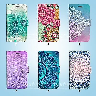 AU12.99 • Buy Mandala Art Wallet Case Cover For IPhone 11 Pro XS MAX XR X 8 7 6 6S Plus 048