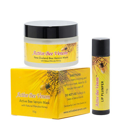 $44.97 • Buy Active Bee Venom Face Cream Mask & Lip Plumper Stick - Buy Together And SAVE